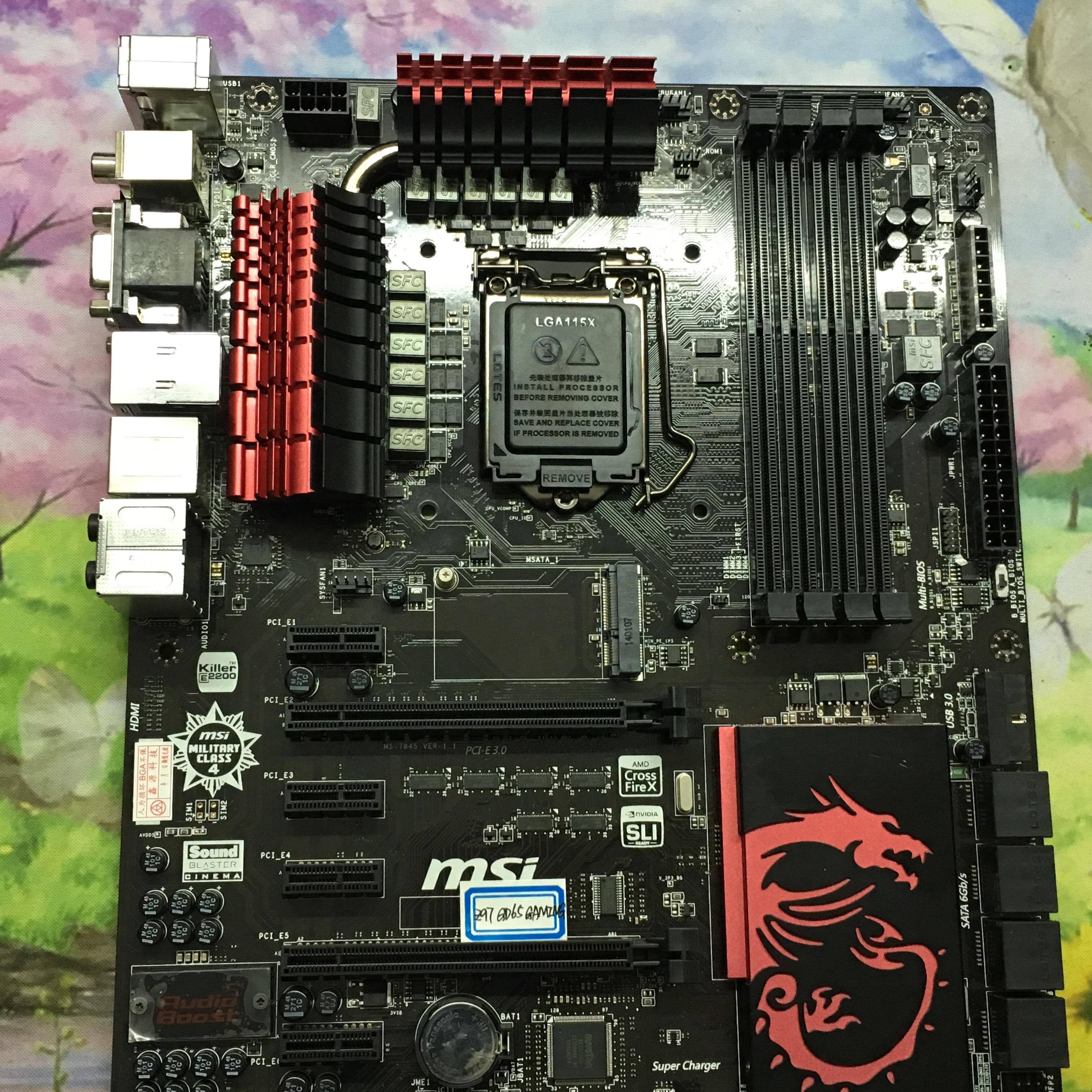 MSI Z97-GD65 GAMING killer card 1150 pin Z97 motherboard support I7 4790K