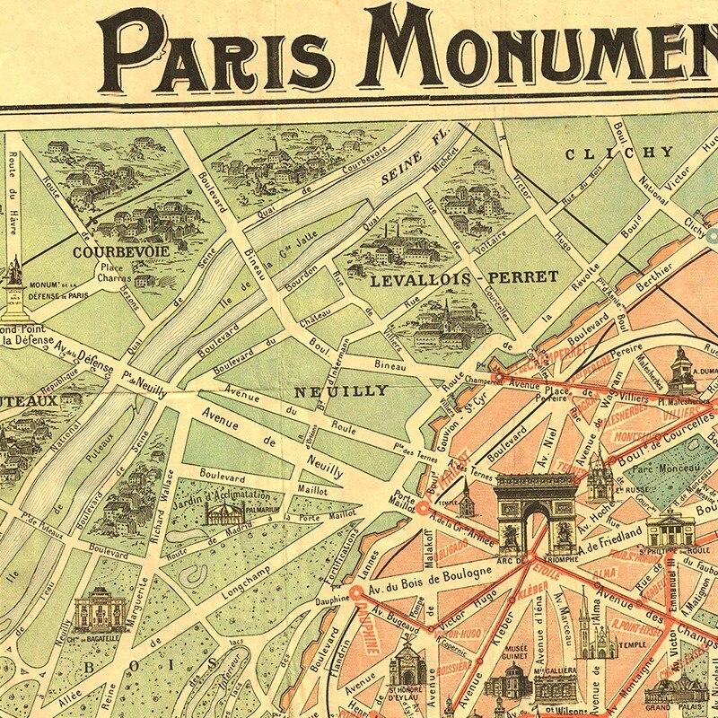 City Map Of Paris France on