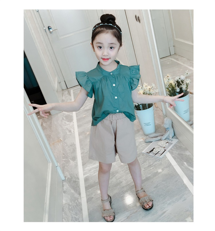 2019 New Summer time Informal Kids Units Blue T-shirt+Pants Ladies Clothes Units Children Summer time Go well with Clothes Units, Low-cost Clothes Units, 2019 New Summer time Informal Kids...