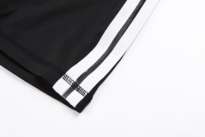2018 High Waist Push Up Elastic Shorts Women Workout Sexy Fitness Skinny Striped Short Activewear Slim Sporting Shorts (18)