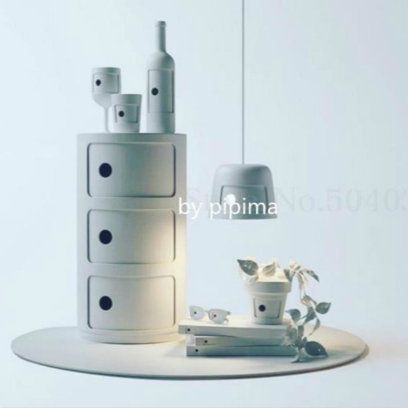Nordic Style Simple Children's Room Bedside Table Bedroom Corner Round Multifunctional Storage Cabinet