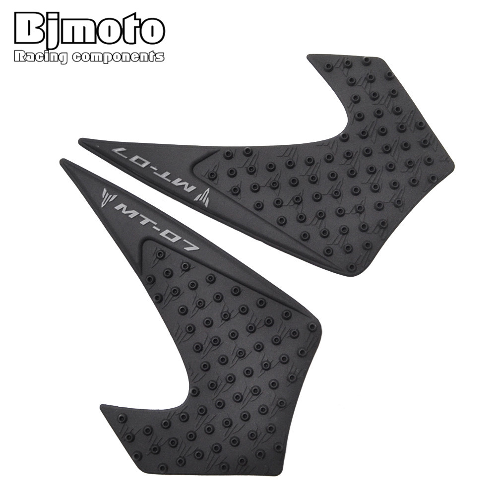 TPP01-MT07/15-BK Anti Slip Sticker Motorcycle Tank Traction Pad Side Knee Grip Protector For Yamaha MT-07 2014-2017