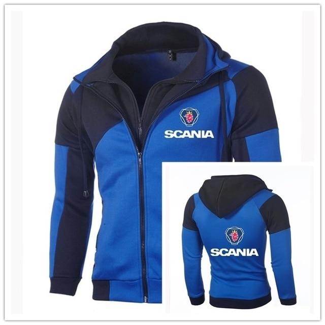 Men's Fashion Sweatshirt SCANIA Logo Jacket  Zipper Cardigan Double Zipper Cotton Pullover Suzuki Hoodies Coat