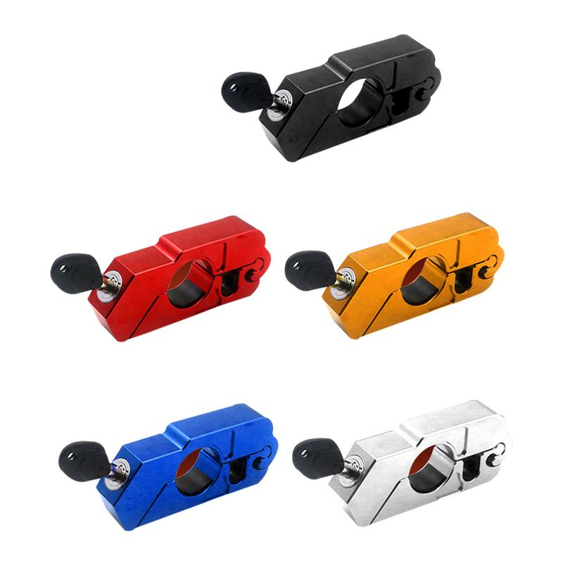 CNC Aluminum Handle Grip Security Safety Locks Handlebar Handset Brake Lever Lock Fit Scooters ATV Motorcycles Dirt Street Bikes