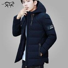 Chaqueta de invierno de marca para hombre, abrigo cálido acolchado con capucha, Parka de plumas informal de moda, chaqueta y abrigo, sudaderas con capucha, ropa de abrigo 4XL, 2018