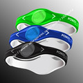 Power Energy Hologram Bracelets Wristbands Keep Balance Ion Magnetic Therapy Fashion Silicone double color Bands