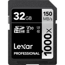 Акция! Lexar 32 GB 64 GB SDHC 128 GB 256 GB SDXC U3 карты 150 МБ/с. Class 10 1000X карты памяти SD для 3D 4 K видео Камера