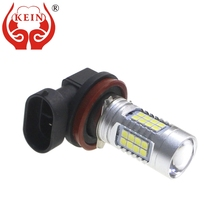 KEIN 2PCS H11 LED Car Bulb 3030 36SMD led Auto Fog Light DRL External Daytime Running Driving Vehicle Lamp White 12V 24V 6000k 2pcs car led fog lamp h11 bright daytime running light auto led parking bulb driving light headlight drl source xenon lamp