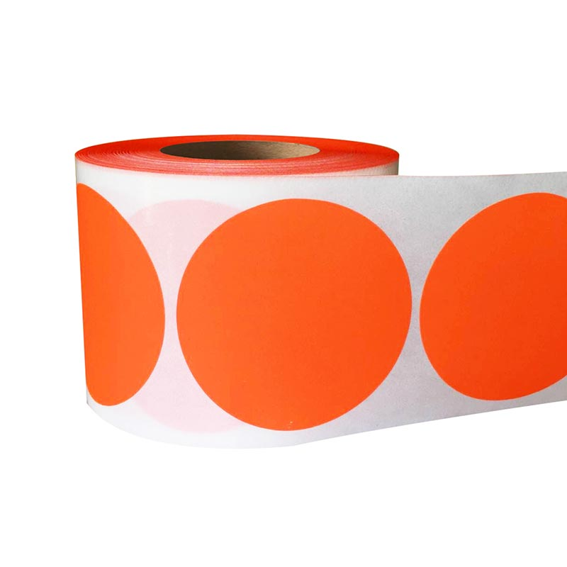 1 Inch Round Blank Fluorescent Red/Deep Orange Shooting Target Pasters ,1,000 Adhesive Dots