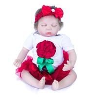 20 Inch 50 Cm Silicone Baby Reborn Dolls Lifelike Doll Reborn Beautiful Princess Sleeping Doll Christmas Gift Birthday Gift