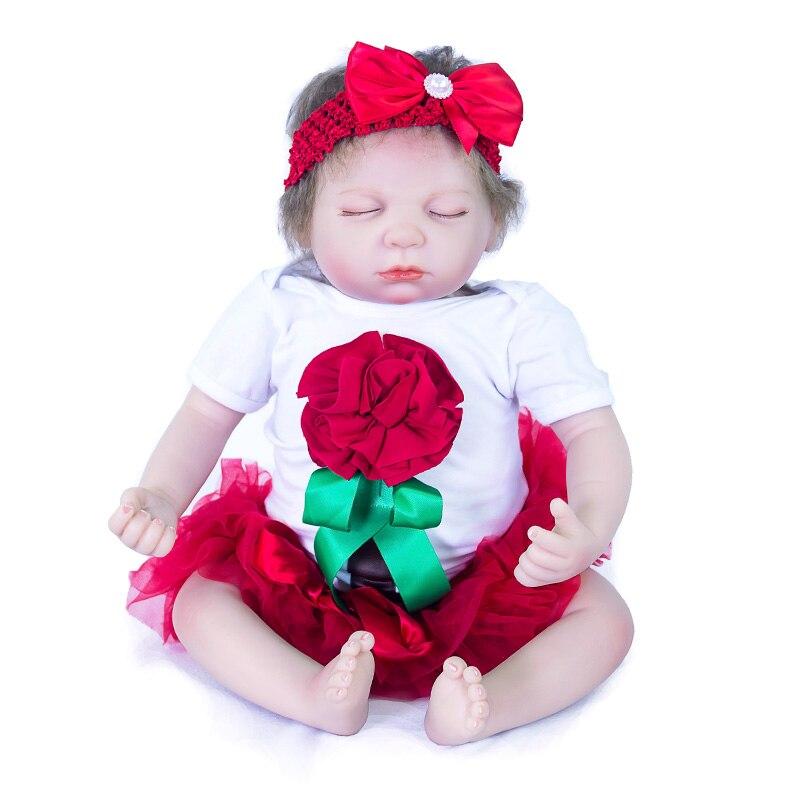 20 pouces 50 Cm Silicone bébé Reborn poupées réaliste poupée Reborn belle princesse dormir poupée cadeau de noël cadeau d'anniversaire