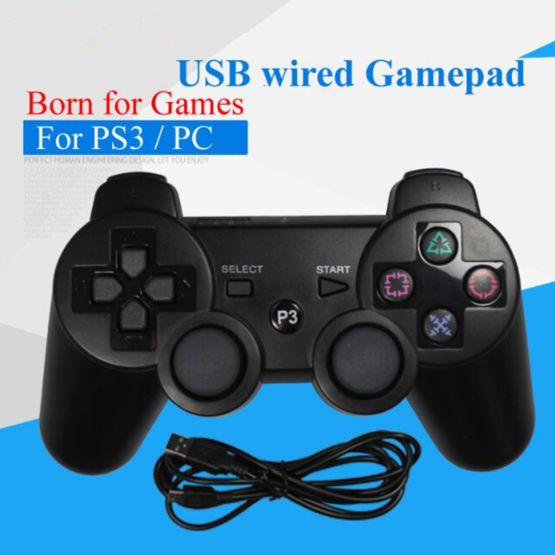 usb wired gamepad for ps3 controller dualshock sony playstation 3 console game joystick for. Black Bedroom Furniture Sets. Home Design Ideas