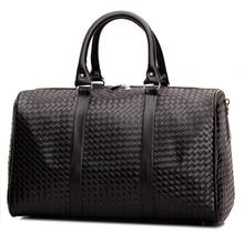 Pu-leder Reisetaschen für Männer Duffle Bag Lattice Große kapazität Wasserdichte Frauen Tote Gepäck Business Dame sac de voyage L549
