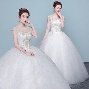 vestidos de noiva 2019 Cheap Wedding Gowns Bride Dresses Vintage White Lace Bohemian Wedding Dress Robe de mariee Bruidsjurk