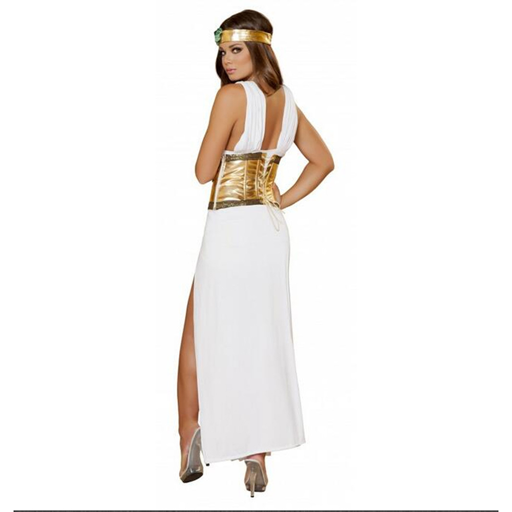 64e504fb17a Sexy Egypt Queen Dress Roma Greek Divine Goddess Women Halloween Costume  Fancy Dress-in Dresses from Women s Clothing on Aliexpress.com