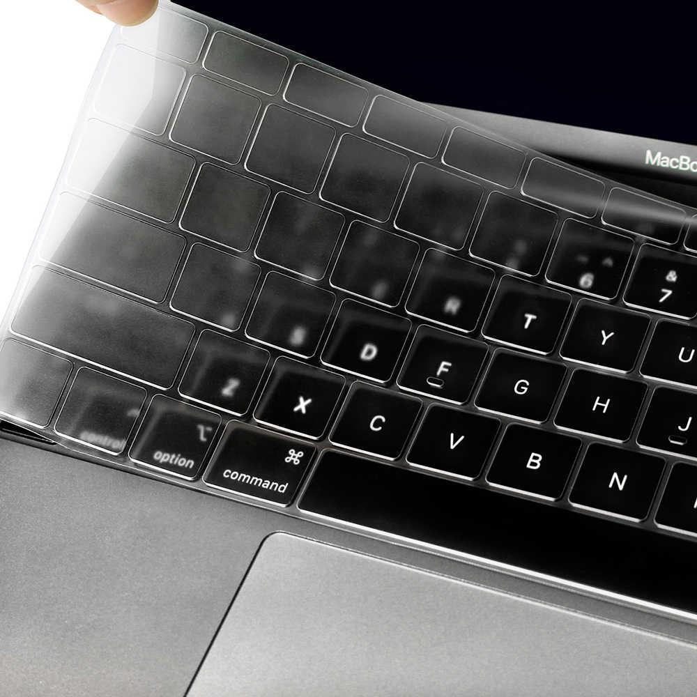 Für Apple Macbook pro13/11Air 13/15 Retina12 zoll Alle serie silikon tastatur abdeckung fall transparent klar protecter film EU/UNS