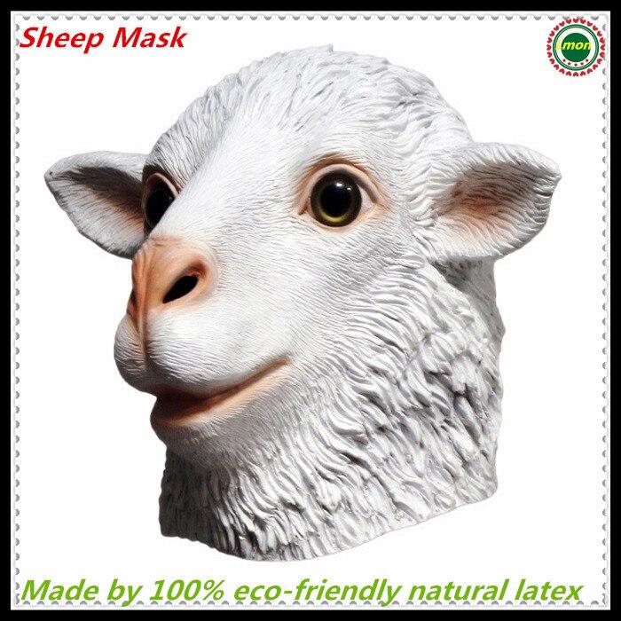 Livraison gratuite de haute qualité Dulex fête Cosplay Halloween Latex caoutchouc chèvre Latex masque mouton masque mythologie accessoire fantaisie