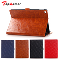 TopArmor 2017 Luxury Oil Wax Stand Case Tablet Leather Case Cover Credit Card Slot Case Book Case For Apple iPad Air 2 iPad 6