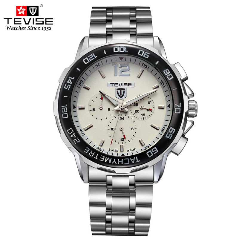 TEVISE Man Automatic Mechanical Watch Men Fashion Self Wind Men Auto Date Week Watches Steel Wristwatches relogio masculino 356 2016forsining luxury relogio masculino men s day week tourbillion auto mechanical watches wristwatches gift box free ship