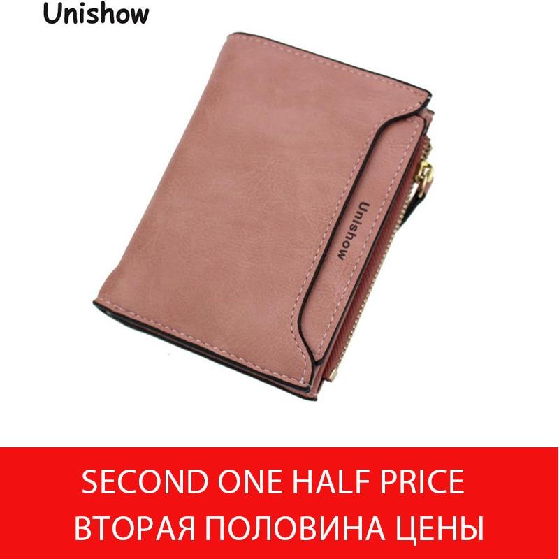 Soild matt pu läder kvinnor plånbok liten tryckning brev kvinnlig handväska dragkedja mynt plånbok multifunktionella kvinnor kort hållare