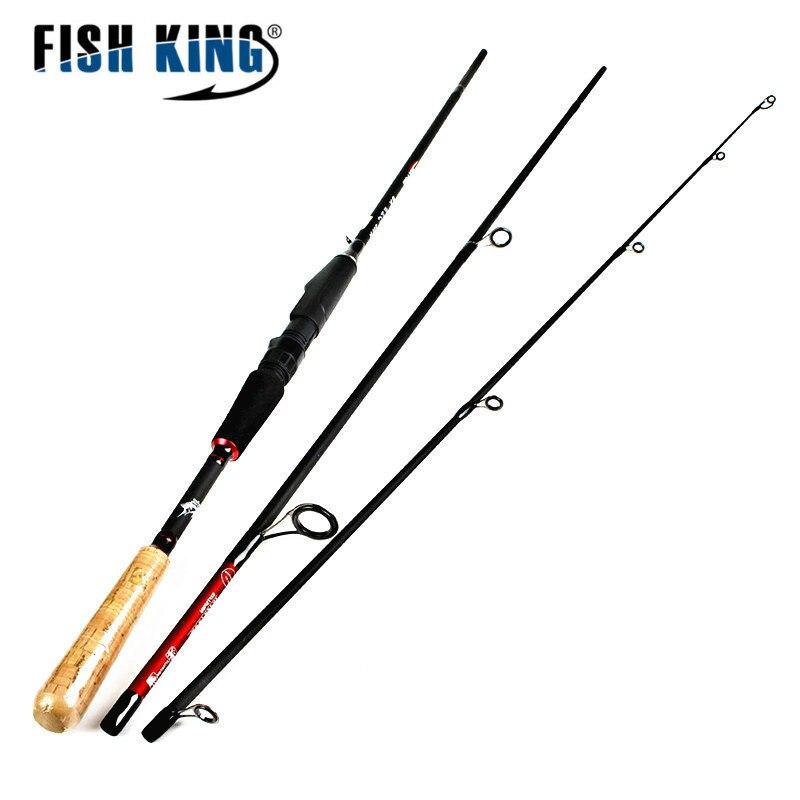 Fish King Superhard Carbon Fishing Spinning <font><b>Rod</b></font> 1.8M-2.7M <font><b>3</b></font> Section Lure Weight 10-30g Comfortable CORK Handle Fishing <font><b>Rod</b></font> Pole