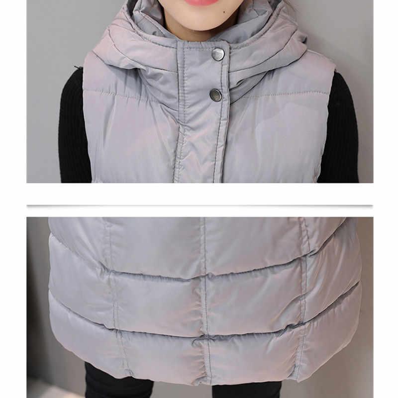 Осень-зима Для женщин жилет 2017 Для женщин жакет хлопок теплый с капюшоном длинный жилет женский Подпушка хлопковый жилет верхняя одежда yagenz K496