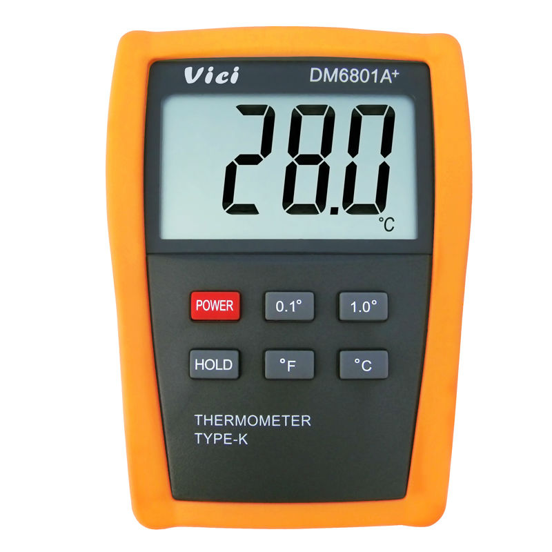 VICI DM6801A+ digital thermometer K type thermocouple high precision digital contact thermometer -50~1300C 0 1300 cetigrade industrial thermocouple k type temperature sensor 0 1300c temperature probe