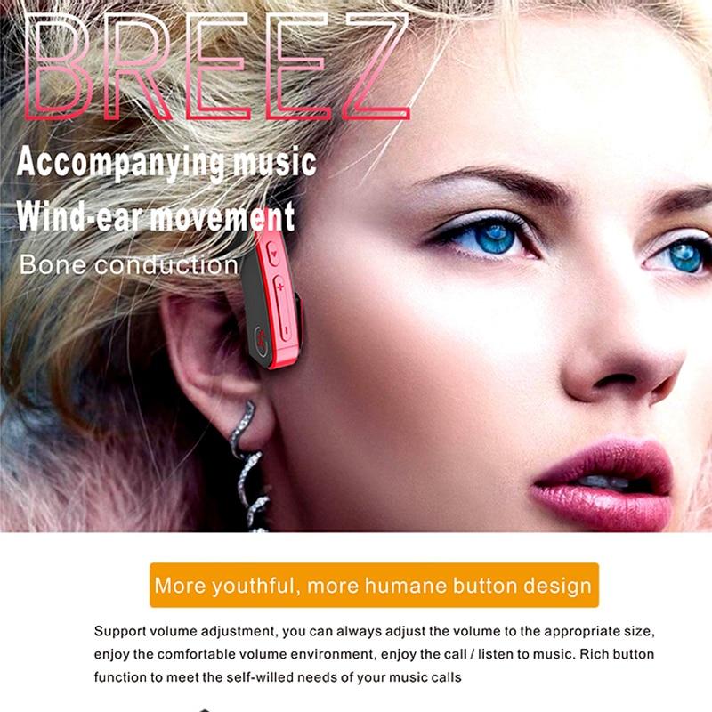 Casque de Conduction osseuse sans fil Bluetooth Sports de plein air casque de basse bon durable de haute qualité sport gym écouteurs en cours d'exécution