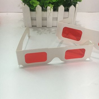 1000pcs White Paper Secret Decoder Glasses - Secret Reveal Red Red Filters Lens 1