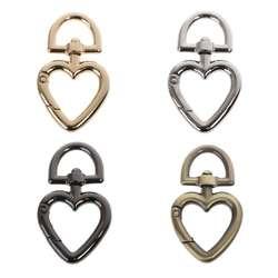 В форме сердца металлическая Поворотная застежка защелка для шнурка Весна Claw застежками