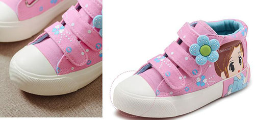 2017 autumn new!!girls sneakers floral canvas shoes white pink navy sapato  ankle shoes girly princess shoes 3 straps tennis-in Sneakers from Mother    Kids ... c44e2e75d8a