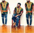 Африканские Платья Хлопок Халат Africaine 2016 Новый Горячий Стиль Печати Платье Для Восстановления Древних Путей Национальные Костюмы, большой Dashiki