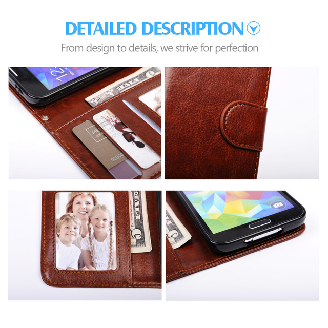 For Samsung Galaxy S5 Case 2 in 1 Detachable Wallet Flip Leather Case For Samsung Galaxy S7 Edge S7 Note 7 Cover Phone Cases