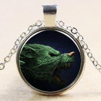 2 kolor biżuteria moda kryształ naszyjnik czas wilk Totem wisiorek naszyjnik męski naszyjnik naszyjnik