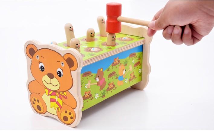 deporte juguetes de madera martillo golpeando golpear topos el de coordinacin ojomano de