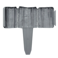 Plastic T Shape Lawn Boarder Fence Cobbled Stone Effect Hammer In Lawn Garden Edging Best Price