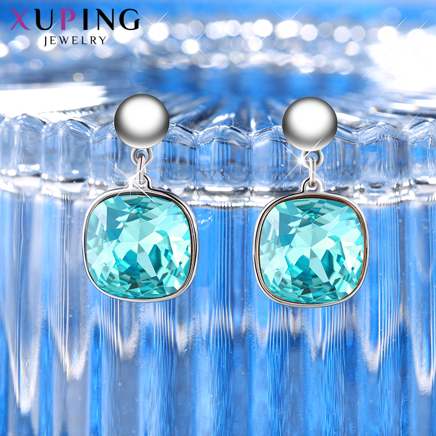 HTB1I6J5XEvrK1RjSszfq6xJNVXa2 - Xuping Square Earrings Crystals from Swarovski Luxury Vintage Style Jewellery Women Girl  Valentine's Day Gifts M94-20493