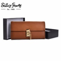 2017 Sally Young NewWomenWallet Long Purse Hasp PatchworkClosure Wallet Pu Leather Feminina Women Fashion Solid Purse