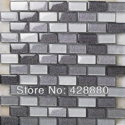 crystal glass mosaic tiles subway tile sheets glass tile backsplash ideas kitchen wall stickers bathroom floor tiles design 659