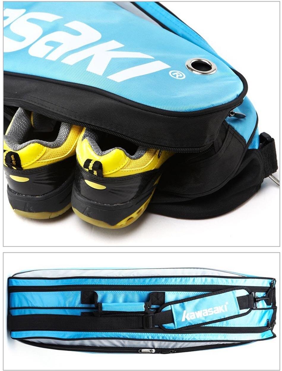 4cd200ad0d41 2019 Kawasaki Racket Badminton Bag Waterproof Single Shoulder Squash ...