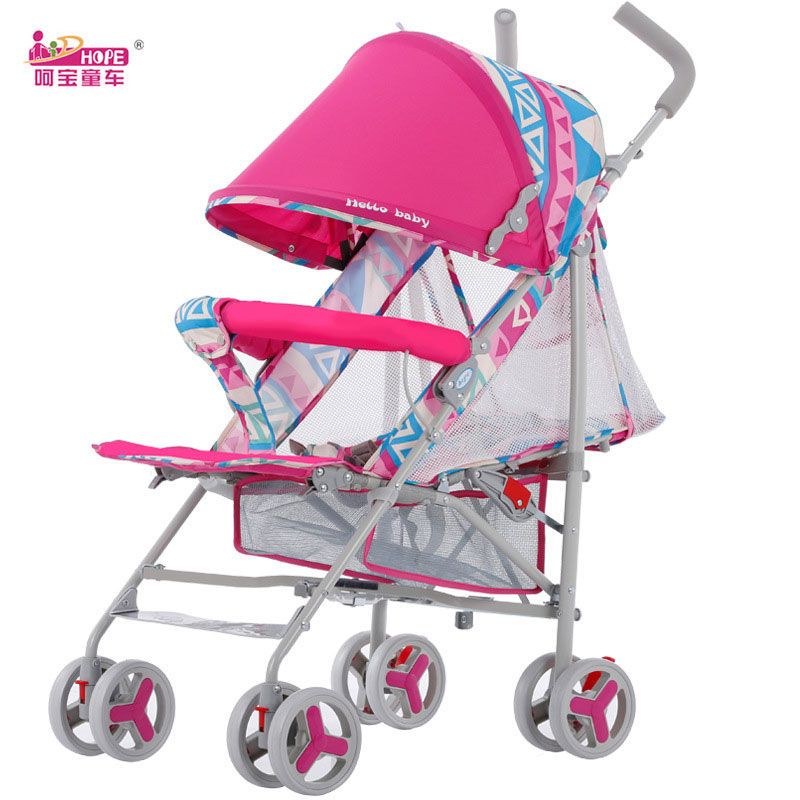 HOPE Super Lightweight Baby Stroller Portable Folding Summer Umbrella Cart Baby Trolley Travel Car Baby Carriage Pram Pushchair summer mosquito net travel folding portable four wheel cart carriage reversible car baby stroller lightweight pram pushchair