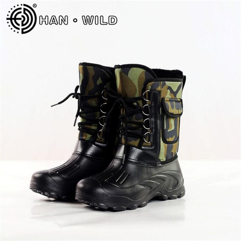 2017 winter snow boots men fishing boots non slip for Waterproof fishing boots