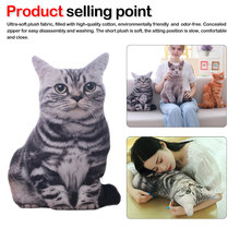 Soft animal Cushion funny cats pillows Christmascat dog toys, creative simulation cat pillows, birthday gifts, plush toys