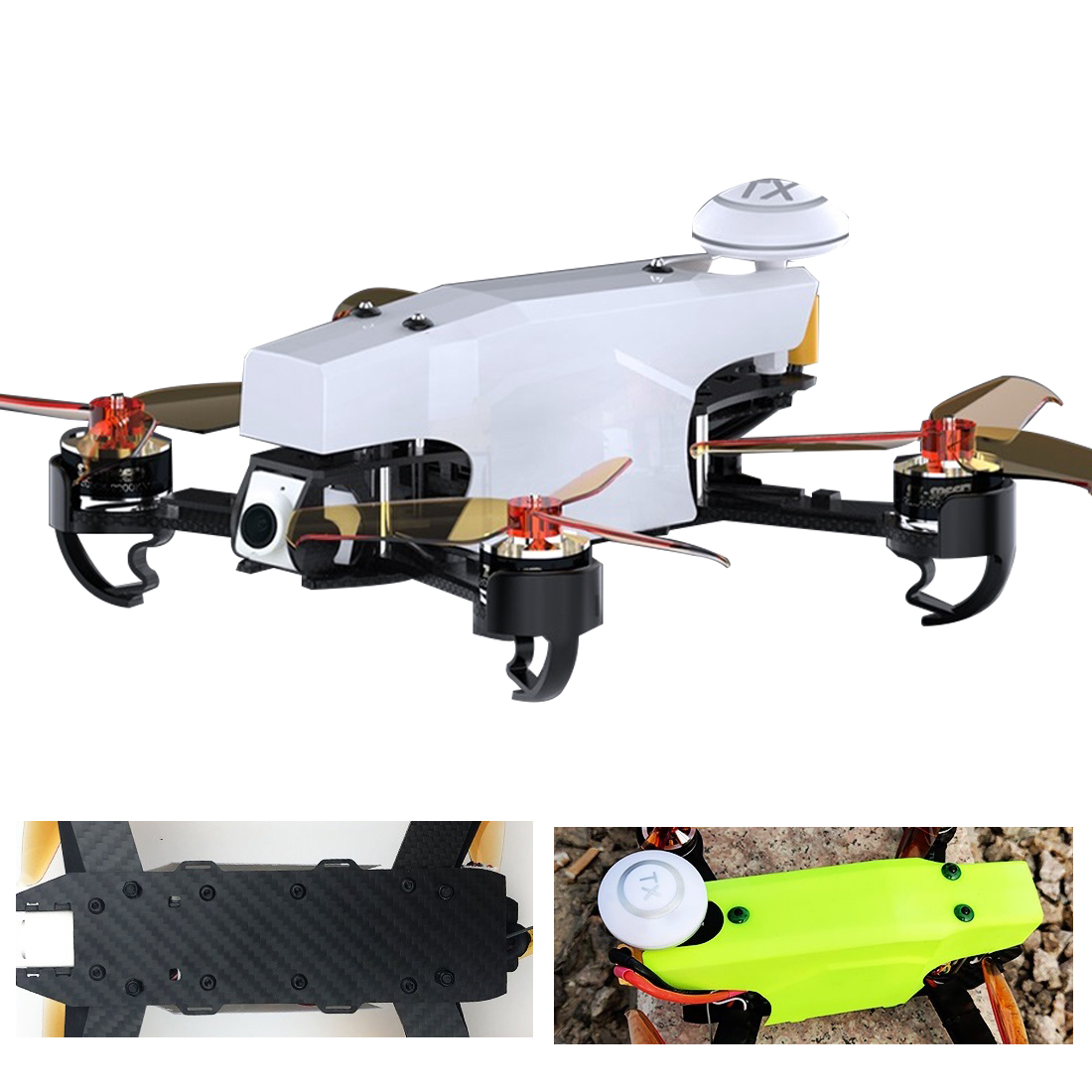 US $166 59 15% OFF|210 100KM/H High Speed 10mins Flight 5 8G FPV DVR 720P  Camera GPS OSD Mini PIX Brushless RC Racer Drone-in RC Helicopters from  Toys