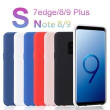 9345618aae9 OMEVE líquido de silicona caso para Samsung S9 S8 más S7 caso Galaxy Nota 9  Nota 8 Gel funda de goma para samsung S7 borde de la.