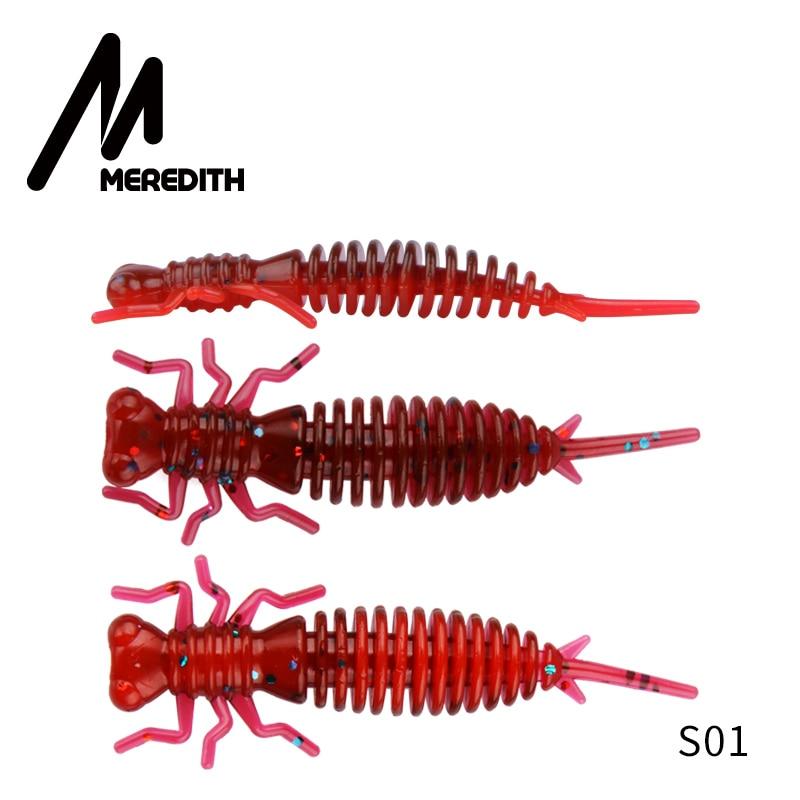 Мягкие приманки MEREDITH Larva, 50 мм, 62 мм, 85 мм, искусственные приманки, силиконовая приманка для ловли червя, приманка для ловли щуки, гольян, плавающая приманка, пластиковые приманки - Цвет: S01