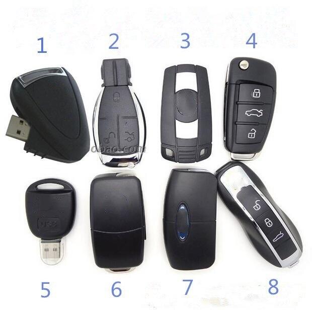 Eight Styles Car Key Usb Flash Drive Pen Drive 64GB 32GB 16GB 8GB Usb Flash Drive Memory Stick Pen Drive Usb Flash Card Disk