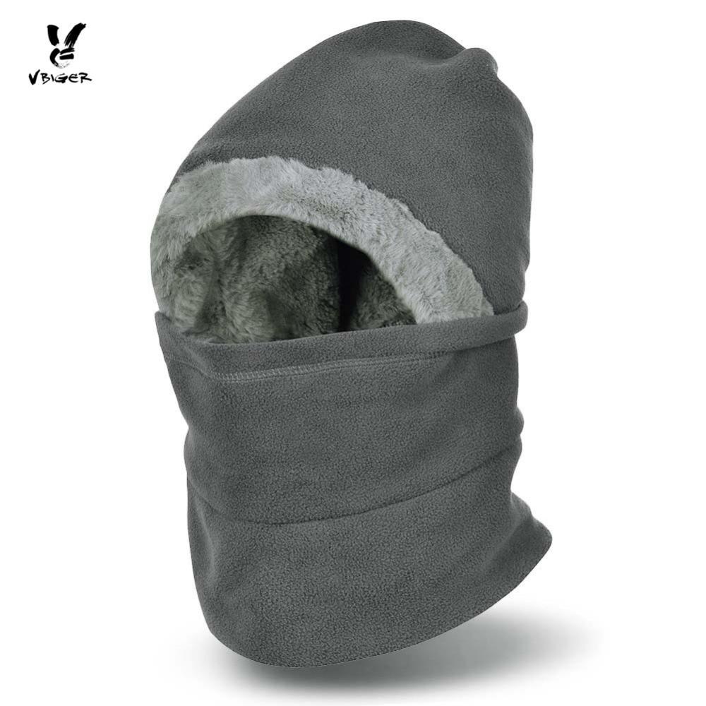 Full face mask neck warmer hood balaclava outdoor winter sports hats - Vbiger Winter Hat Beanies Windproof Face Cover Mask Neck Warmer Balaclavas Kepp Warm Cap For Men Women