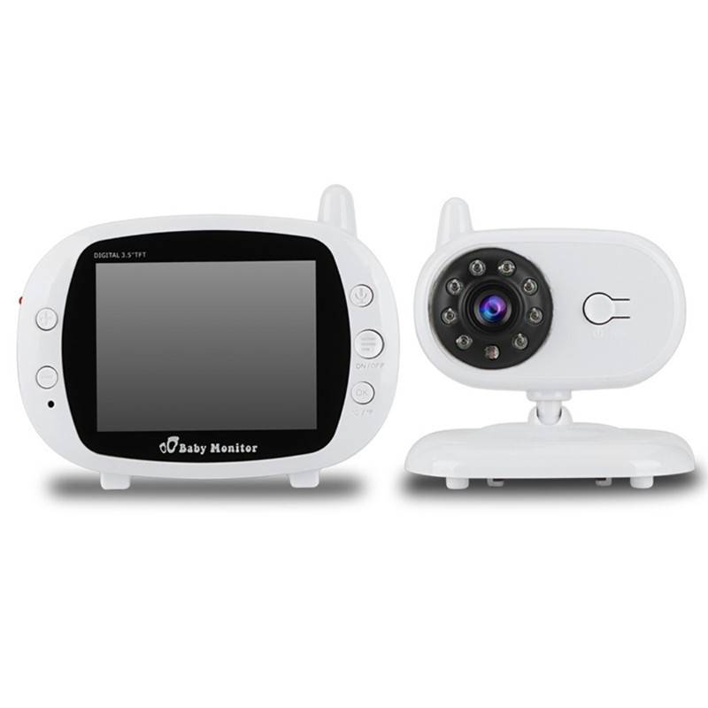 Baby Sleeping LCD Monitor 3.5 inch Wireless LCD Video Baby Monitor with Night Vision Digital Video Nanny Babysitter