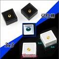 Elegance 35pcs Black and White 3cmx3cm Loose Diamond Box Plastic Diamond Display Case Stone Storage Box Gem Organizer Holder